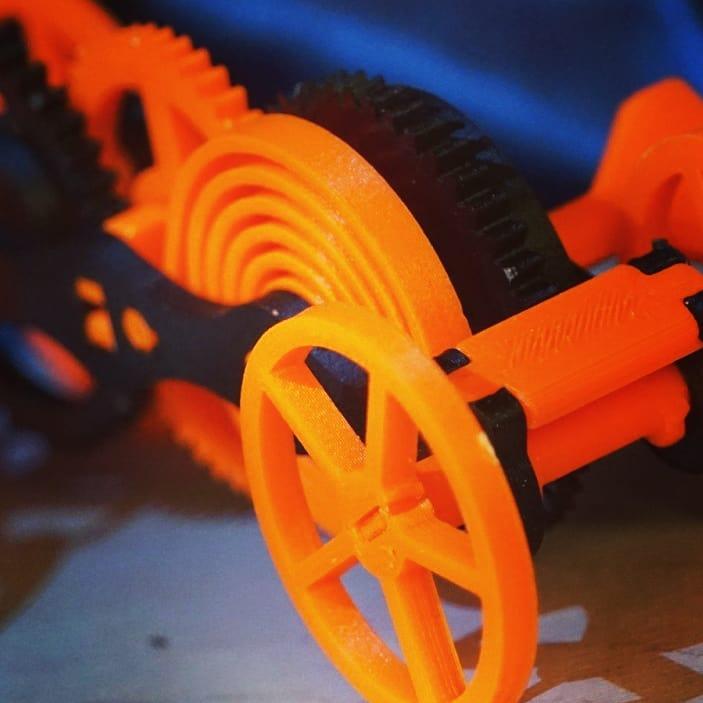 ABS Pro GF-4 пластик Filamentarno оранжевый (флуо)