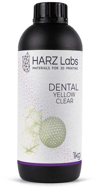 Фотополимер HARZ Labs Dental Yellow Clear (LCD/DLP) (1л)